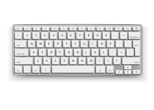 Realistische desktop toetsenbord