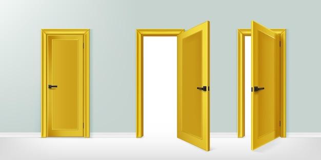 Realistische deuren collectie illustratie