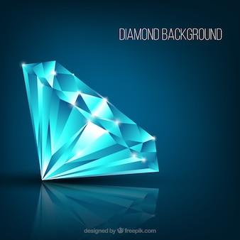 Realistische diamant achtergrond met glanzende vormen