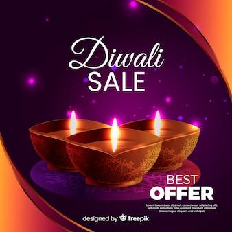 Realistische diwali verkoop beste aanbieding