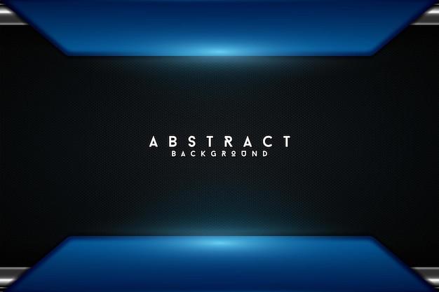 Realistische donkerblauwe moderne lichte achtergrond