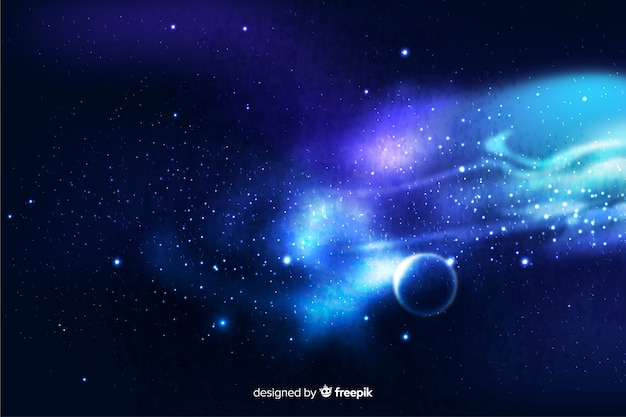 Realistische donkere abstracte melkwegachtergrond