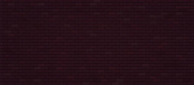 Realistische donkere bakstenen muur.