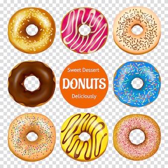 Realistische donuts set