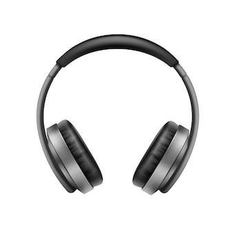 Realistische draadloze koptelefoon bovenaanzicht close-up
