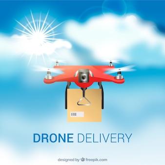 Realistische drone achtergrond