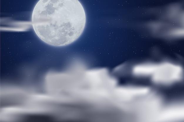 Realistische dwaze maan behang