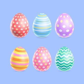 Realistische easter egg-collectie