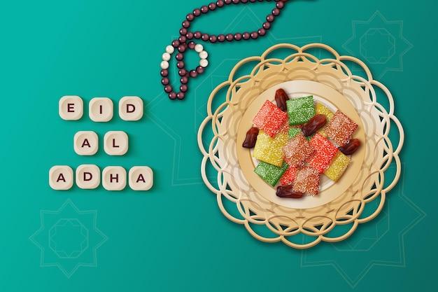 Realistische eid al-adha-illustratie