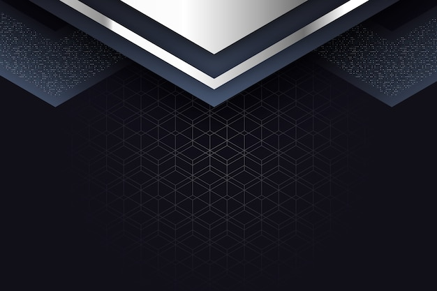 Realistische elegante geometrische vormen screensaver