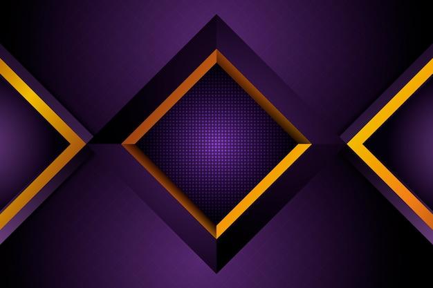 Realistische elegante geometrische vormenachtergrond