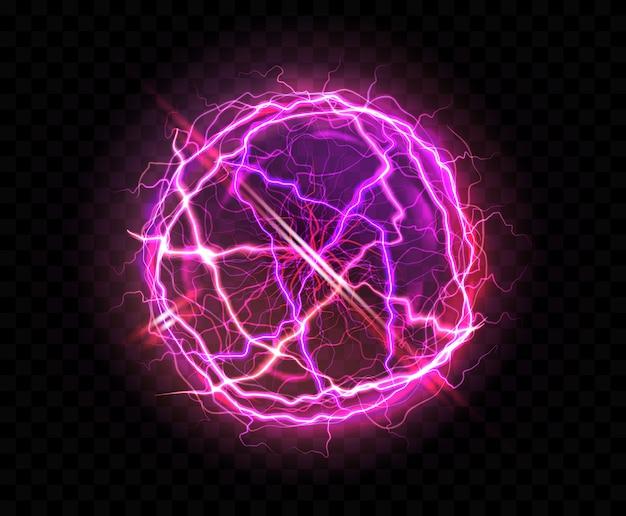 Realistische elektrische bal of abstracte plasmabol