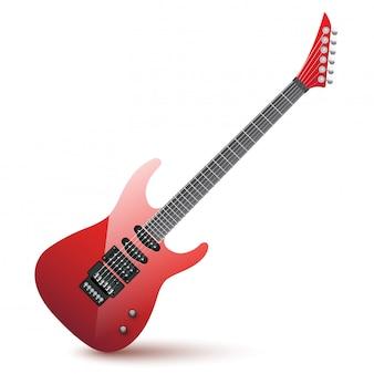 Realistische elektrische gitaarillustratie