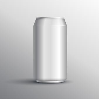 Realistische energie drinken kan mockup ontwerp sjabloon