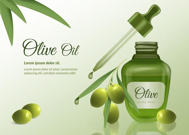 Realistische etherische olie-advertentie
