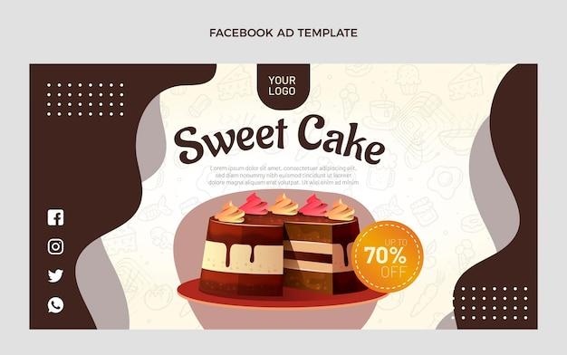 Realistische facebook-sjabloon voor eten