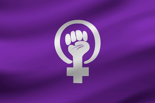 Realistische feministische vlag