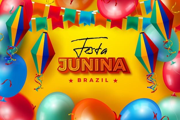 Realistische festa junina-collectie