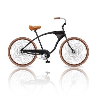 Realistische fiets geïsoleerd