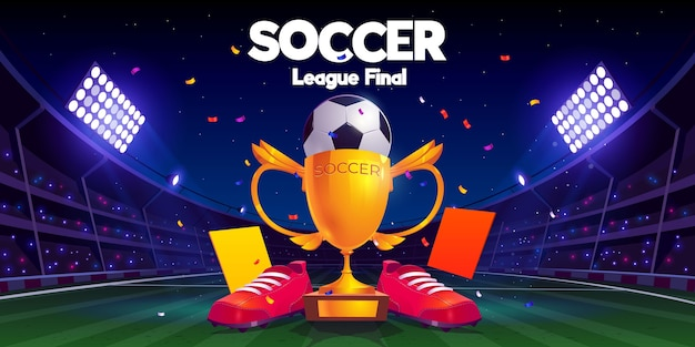 Realistische finale illustratie van de voetbalcompetitie
