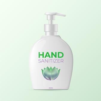 Realistische fles handdesinfecterend middel