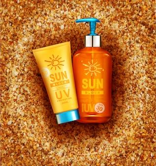 Realistische flessen met bescherming tegen de zon