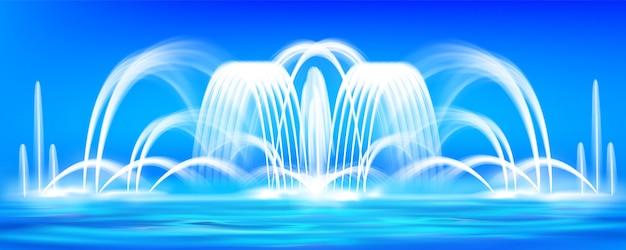 Realistische fontein afbeelding achtergrond