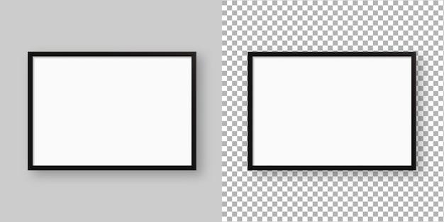 Realistische fotolijst. leeg afbeeldingsframe sjabloon. geïsoleerd. sjabloonontwerp. realistische afbeelding.