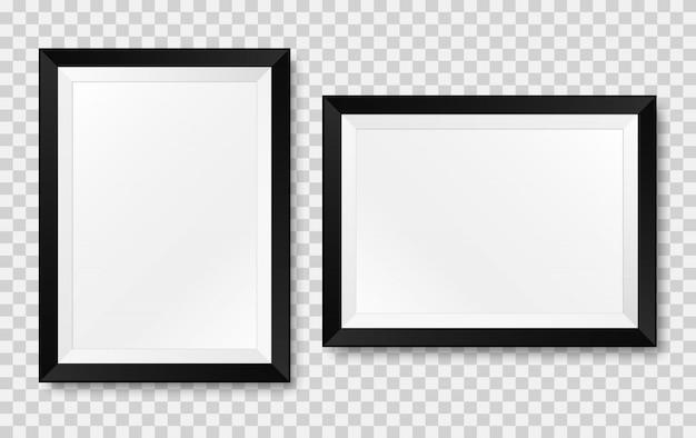Realistische fotolijst. vector geïsoleerd