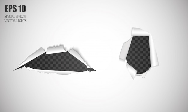 Realistische gaten in papier