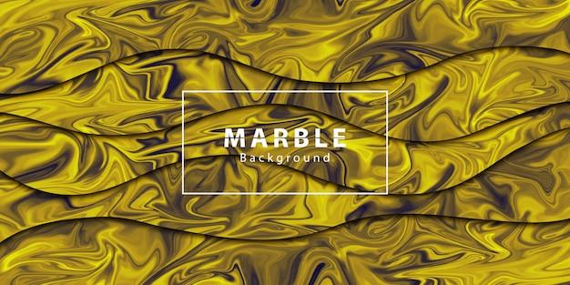 Realistische geïsoleerde gouden marmeren papercut abstracte achtergrond voor sjabloondecoratie en lay-out bekleding.