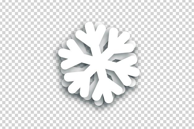 Realistische geïsoleerde sneeuwvlok voor decoratie en bekleding. concept van gelukkig nieuwjaar en vrolijk kerstfeest.