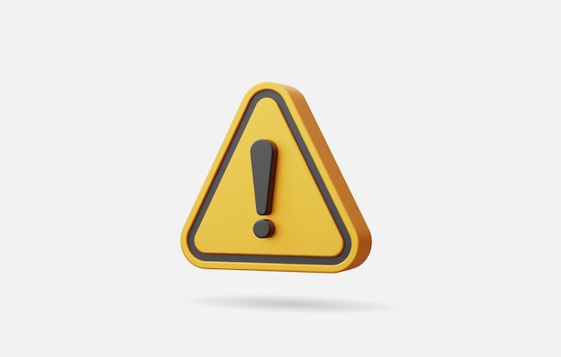 Realistische gele driehoek waarschuwingsbord vectorillustratie.