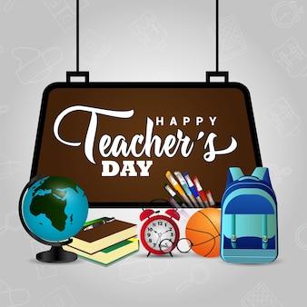Realistische gelukkige lerarendagachtergrond
