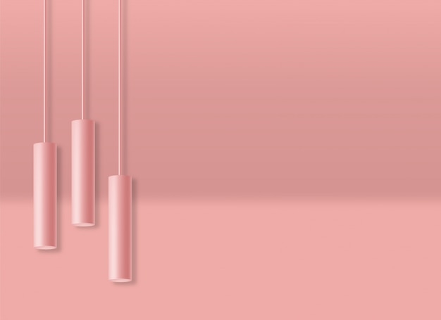 Realistische geometrische formescène, blauwe achtergrond, minimale geïsoleerde forme, samenvatting, de illustratie van cilinderlichten