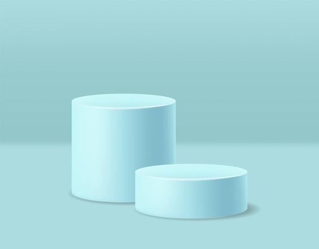Realistische geometrische formescène, cilinder