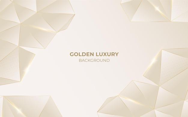 Realistische geometrische luxe achtergrond