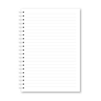 Realistische geopende notebook.