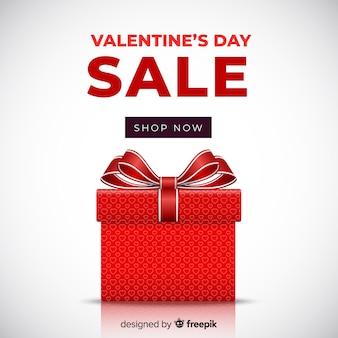 Realistische geschenk valentine verkoop achtergrond