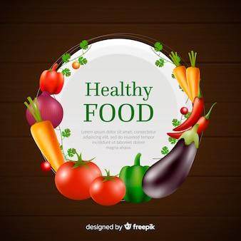 Realistische gezonde voedselachtergrond