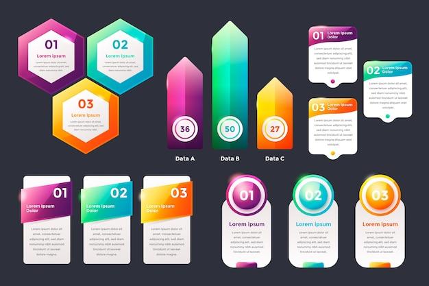 Realistische glanzende infographic elementen