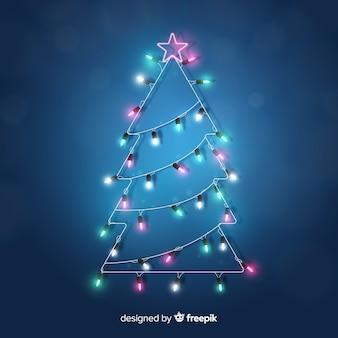 Realistische glanzende kerstboom achtergrond