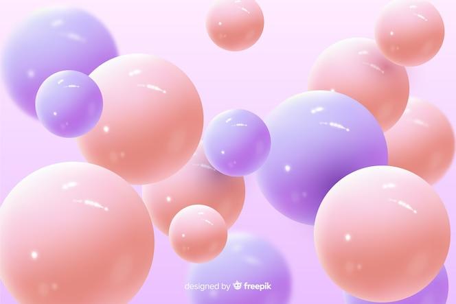Realistische glanzende plastic ballenachtergrond