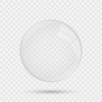 Realistische glazen cirkel bol