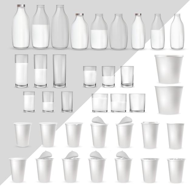 Realistische glazen glazen