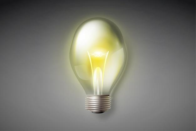 Realistische gloeilamp met elektriciteit