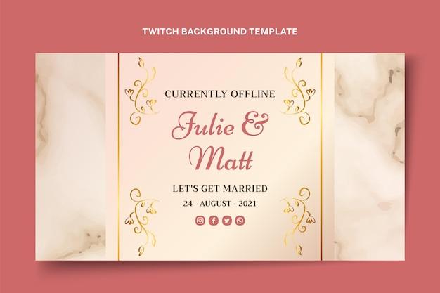 Realistische gouden bruiloft twitch achtergrond