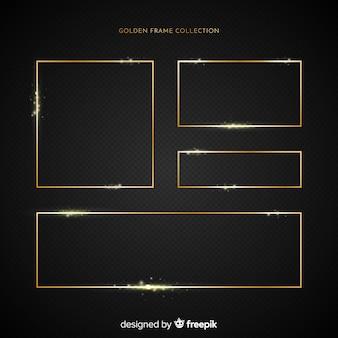 Realistische gouden frames instellen