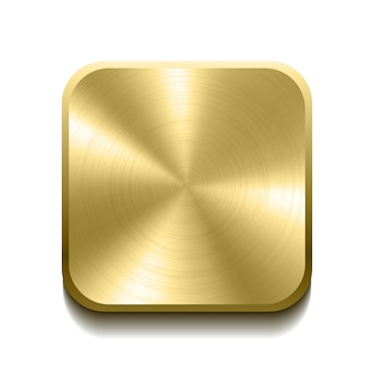Realistische gouden knop