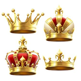 Realistische gouden kroon